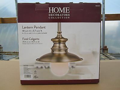 Free Ship, Home Decorators Lantern Pendant with Frosted Glass Opal Shade