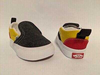 Vans New Slip-On V Vans Coastal Black/True White Vault Toddler Size USA 5