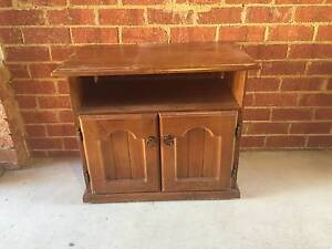 TV Cabinet- Wooden with Wheels , DVD player slot and storage box Hughesdale Monash Area Preview