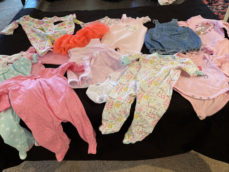 Baby Girl Clothes 3-6 Months Lot Summer (126) 16 Pieces In Total