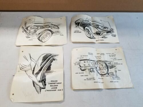 Original 1970 De Tomaso Mangusta Automobile Brochure Other Literature Manuals