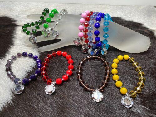 Wholesale Lots Bracelets Woman Stretch Bracelet Crystal Beaded 12 pcs Mix Bulk