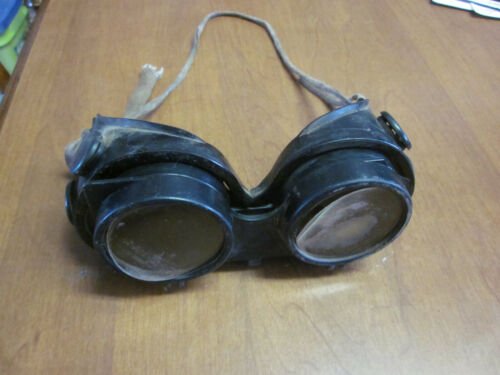 Antique WELDING GOGGLES U S AIRFLOW SAFETY SERVICE WELDING GOGGLES