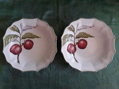 Villeroy & Boch  ~ Cascara ~ Rimmed Cereal Bowl / Breakfast Saucer ~ Set of 2 2 Rimmed Cereal Bowls