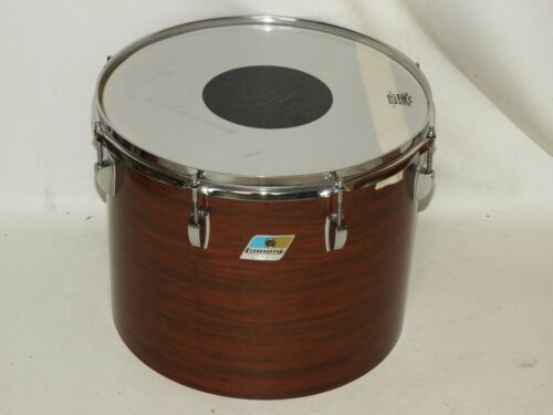 "Vintage Ludwig 12 x 15"" Mahogany Cortex Tom Drum Blue Olive # 1294389"