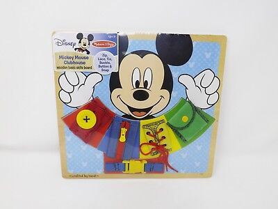 Melissa & Doug Disney Mickey Mouse Clubhouse Wooden Basic Skills Board - New](Melissa And Doug Basic Skills Board)