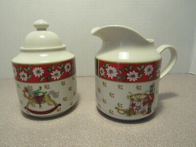 Sugar Bowl, Creamer,   Kobe Charlton Hall Christmas -