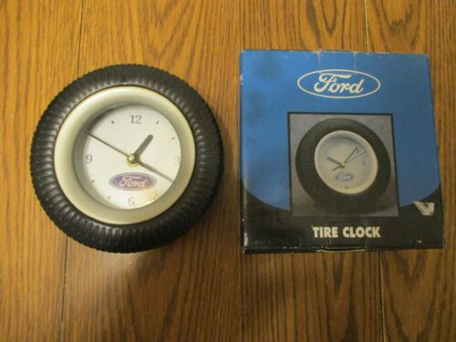FORD TIRE CLOCK OFFICIAL LICENSED PRODUCT TABLE OR WALL MOUNT