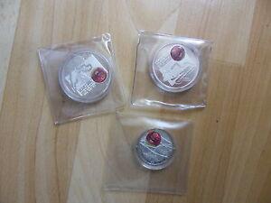 3 Münzen Michael Schumacher Kollektion