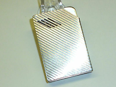 HARVEY AVEDON AUTOMATIC POCKET LIGHTER W. STERLING SILVER CASE - 1938 - U.S.A.