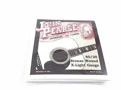 Bronze Wound Extra Light - John Pearse Guitar Strings  Acoustic 80/20 Bronze Wound Extra Light #100XL