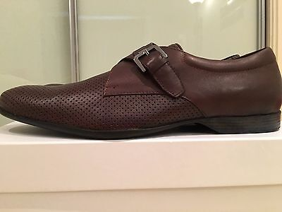 Versace Collection Brown Mens 100% Leather Dress Shoes EU 42 BNIB