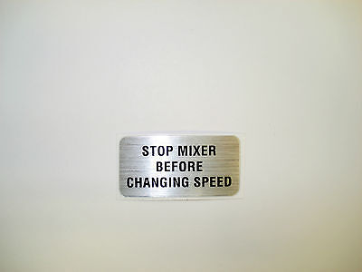 Hobart Mixer Label Decal Stop Mixer Before Changing Speed A120 A200 00-123674