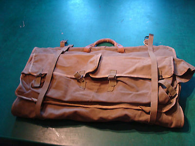 vintage large Military suitcase/bag for clothes, OLD AND COOL luggage WW1 or 2