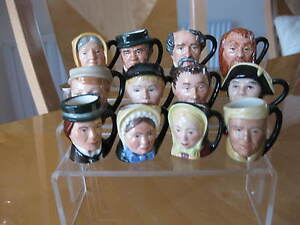 Royal Doulton Set of Tiny Character jugs of Charles Dickens & his characters