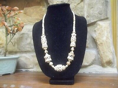 Vintage Antique 1930/'s Sterling Silver 18 inch Necklace Graduated Beads 12 mm