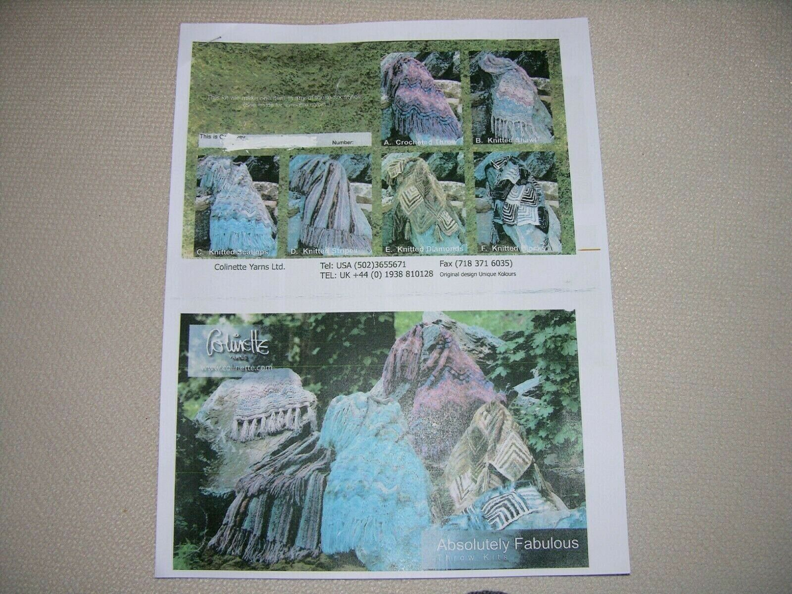 CUSTOM COLINETTE ABFAB THROW KIT, Hand Dyed Yarn From U.K. W/ Substitution - $389.99