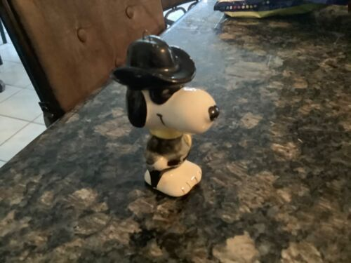 SNOOPY PEANUTS DETERMINED LONE RANGER VINTAGE CERAMIC ORNAMENT