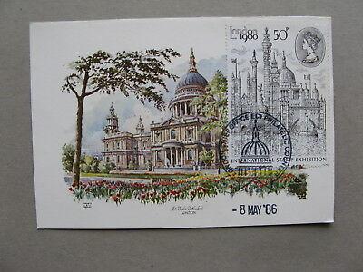 UK GB ENGLAND, maximumcard maxi card 1986, St Pauls Cathedral