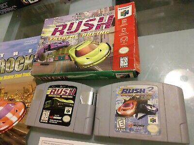 San Francisco Rush Extreme Racing Complete & Rush 2 Extreme Racing USA (2 games)
