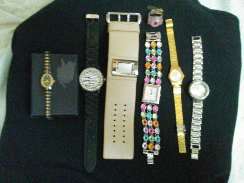 Lot 7 Wrist watches Parts Repair Seiko Geneva Kenneth Elgin Womens no papers