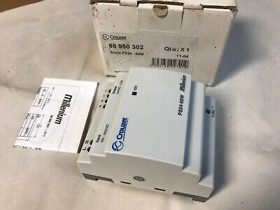 New Crouzet 88950302 Ps24-60w Millenium Dc Power Supply Out 24vdc 2.5a