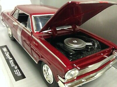 NEW RAY 1:24 MUSCLE CAR COLLECTION 1964 CHEVROLET NOVA SS DIECAST BLACK 71823 B
