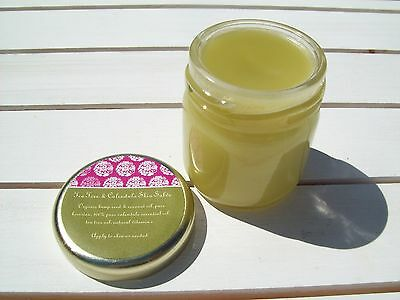 Skin Healing Salve Calendula & Tea Tree Oil Rash Relief Hemp Seed & Coconut Oil ()