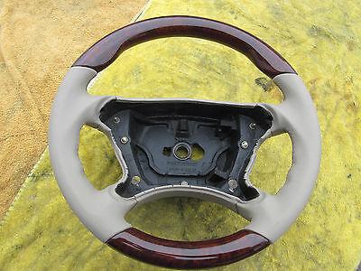 Wurzelholz Lederlenkrad beige Mercedes-Benz SL R230 CLK W209, 230 460 xx xx
