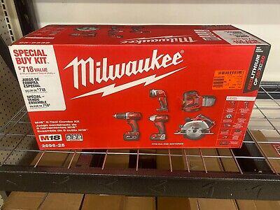 Milwaukee 2696-25 M18 5-piece Cordless Tool Combo Kit