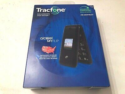 New Tracfone Alcatel My Flip MyFlip A405 Prepaid Basic Cell Phone TFALA405DCP