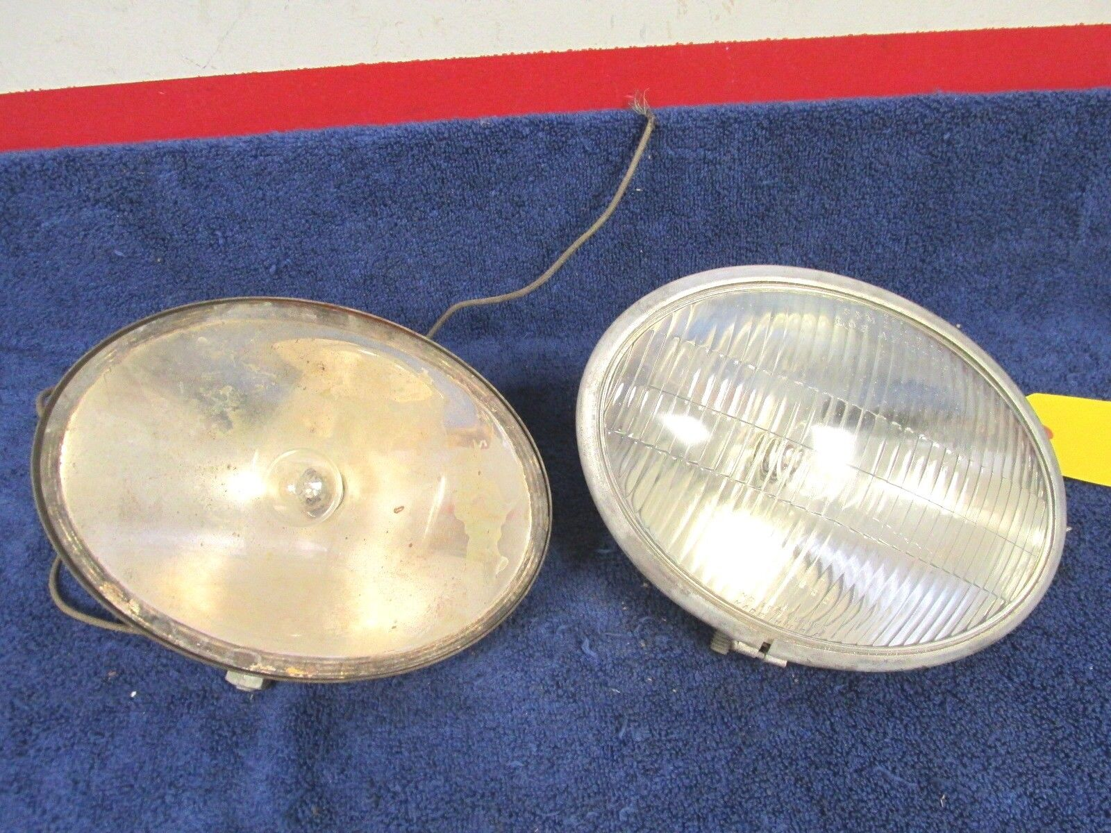 VINTAGE S/M # 155  DRIVING / HEADLIGHTS 8-3/4  6-1/2  OVAL STYLE  317
