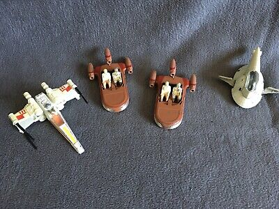 Vintage Star Wars - Two Die Cast Landspeeder, Slave 1, X Wing - Kenner 1978-80
