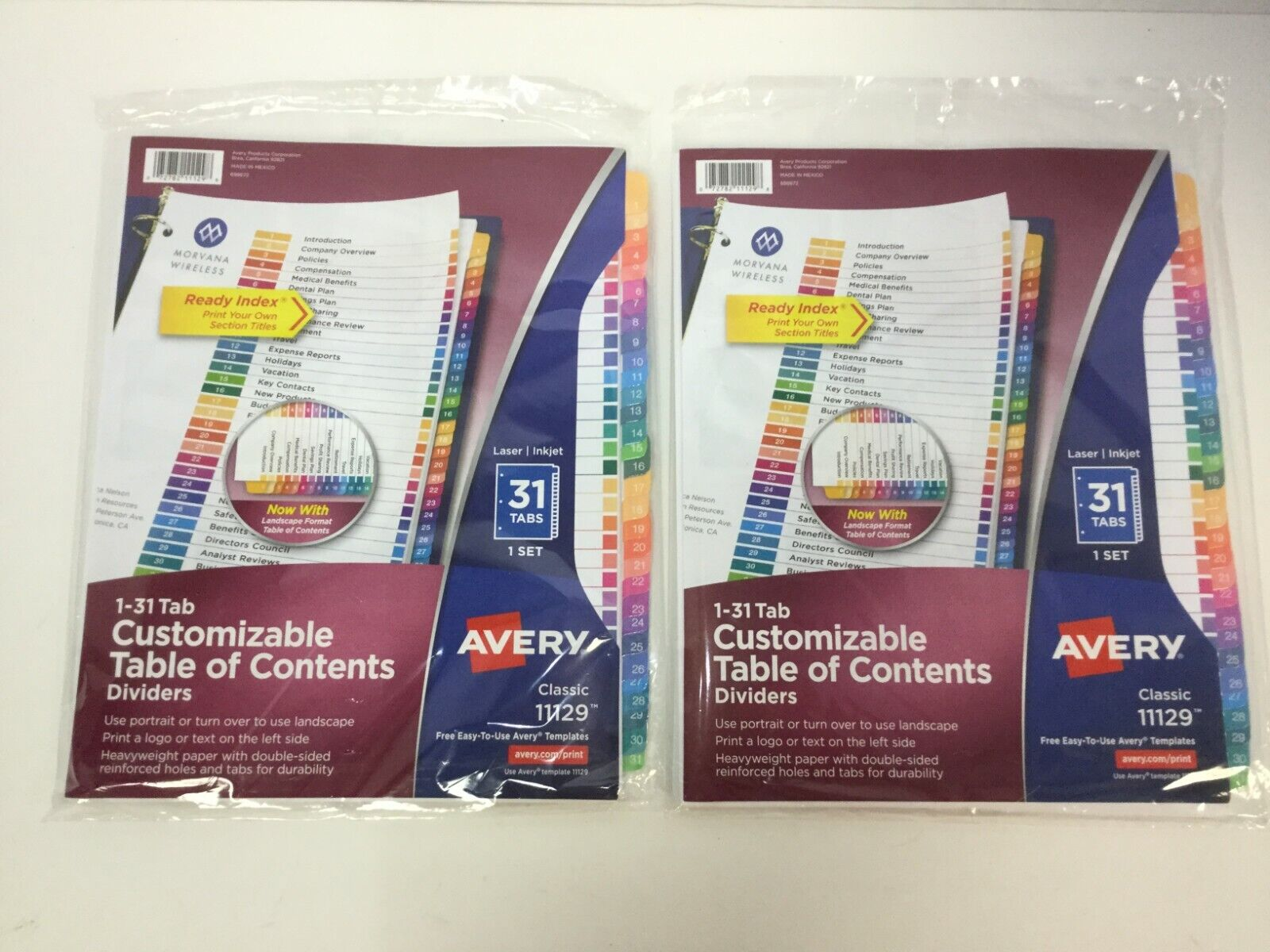 consumer ave11129 ready index dividers