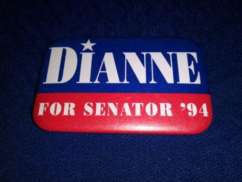 ELUSIVE DIANNE FEINSTEIN SENATE 1994 CALIFORNIA WOMAN POLITICAL PINBACK BUTTON