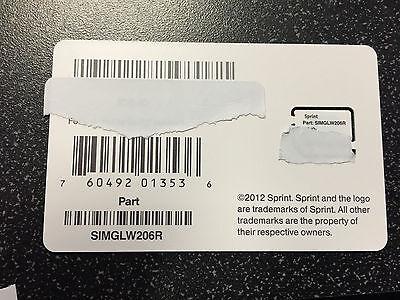 Sprint Boost Mobile Micro Sim Card Part SIMGLW206R 4G LTE Samsung s4 s5 Nexus 5