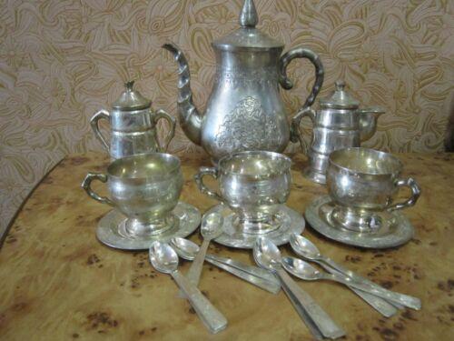 Rare old Tea silver plated Tea and Coffee Service Vintage Stigma Gihangbo NTDung