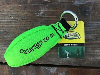 New Weaver Arborist 16oz Throw Weight Neon Green