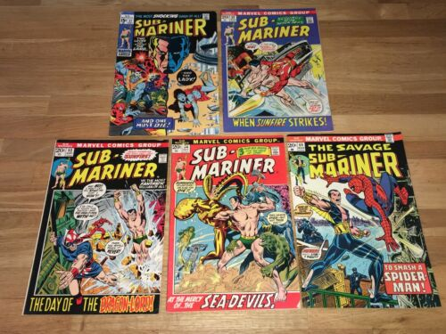 SUB-MARINER (MARVEL COMICS) #37-69 ~ VG/FINE!
