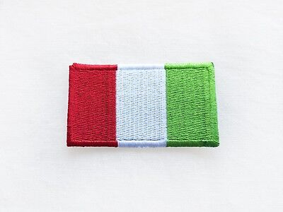 Italian Flag Patches (Italian flag patch ITALY Europe roadtrip World Iron On Embroidered Applique)