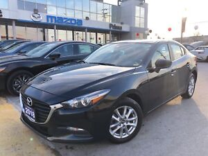 2018 Mazda Mazda3 GS-SKY, CARFAX CLEAN, HEATED SEATS, ALLOYS