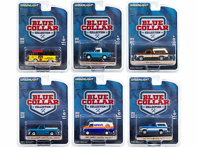 GREENLIGHT 35180 BLUE COLLAR COLLECTION SERIES 8, SET OF 6 CARS 1/64 DIECAST