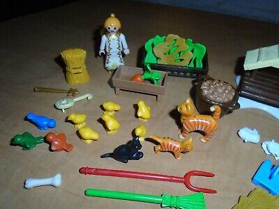 Playmobil advent christmas calendar parts 6624 farm santa angel goat sheep toys