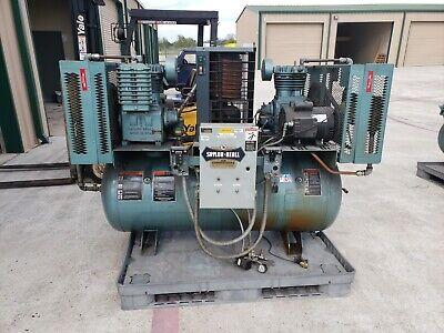 Saylor Beal Air Compressor Duplex X735-120 3phace 230-3-60