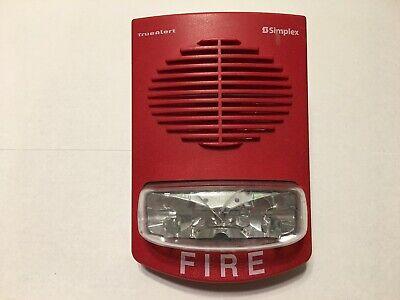 Simplex 4903-9356 Truealert Fire Alarm Speaker Strobe Red