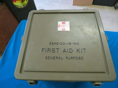 MILITARY FIRST AID KIT (EMPTY)   NSN: 6545-00-116-1410