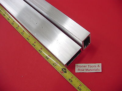 2 Pieces 1x 2x 18 Wall Aluminum Rectangle Tube 6063 T52 X 48 Long