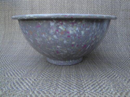 Vintage Texas Ware Mixing Bowl 111 Melamine Grey Confetti Mid Century