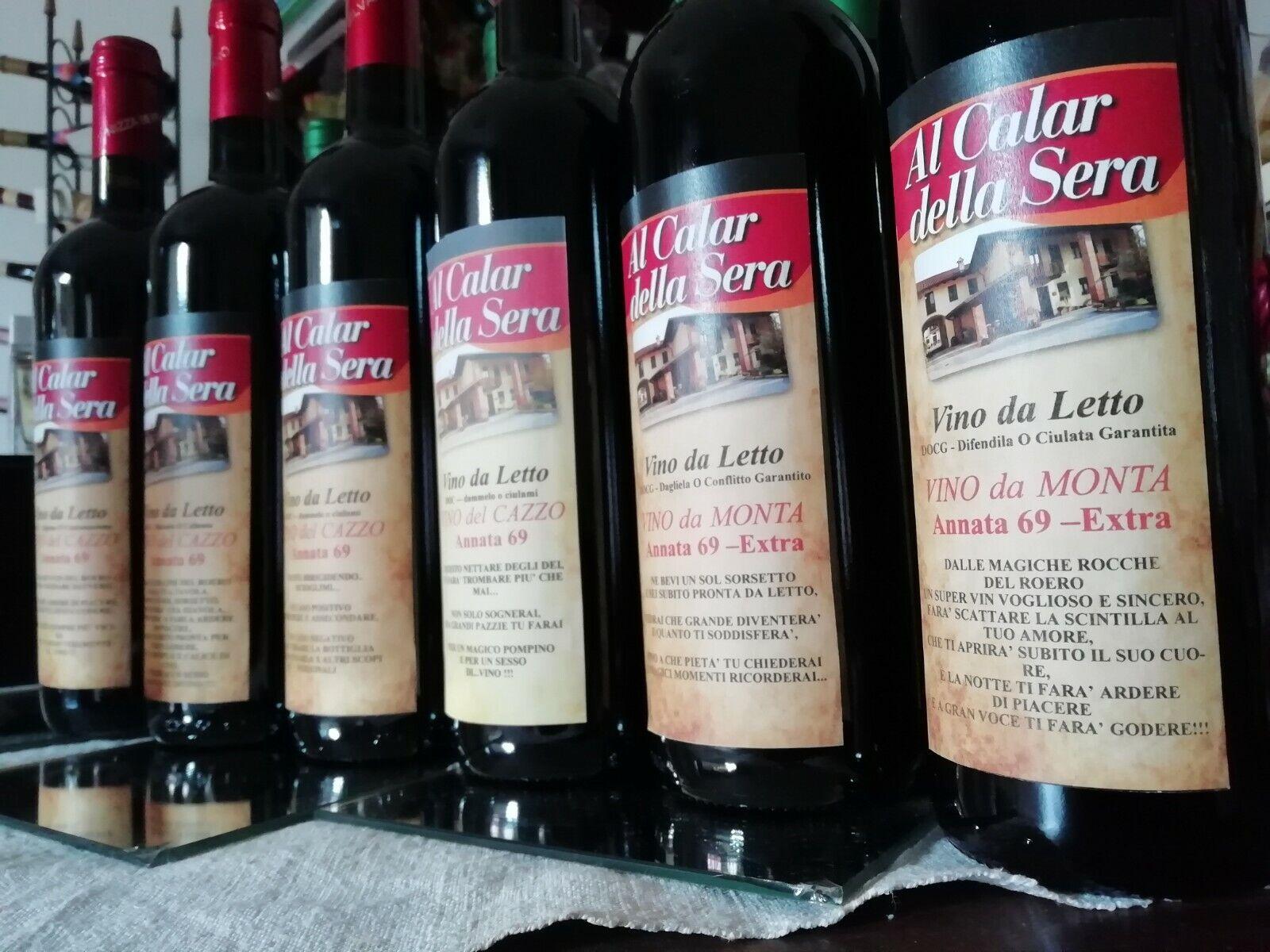 COLLEZIONE DI VINO DEL CAZZO, vino rosso e bianco , 6 bottiglie da cl. 75