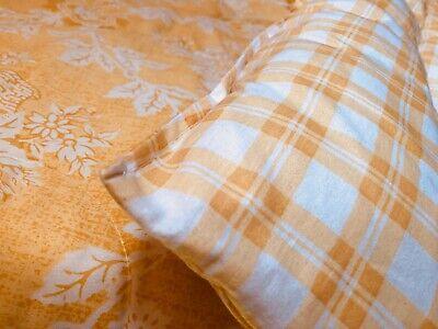 "Laura Ashley *Quartet* FULL Yellow Floral/Plaid 84x88"" REVERSIBLE Comforter Laura Ashley Plaid Quilt"
